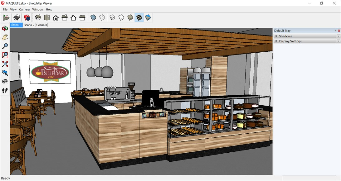 picture of 3d visualisation of kitchen