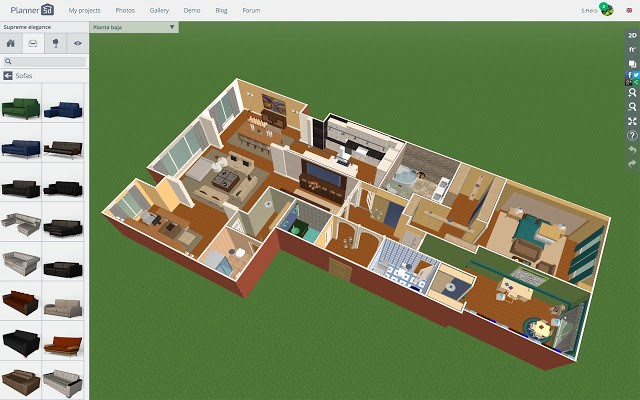 picture of planner 5d software use for house floor 3d visualisation